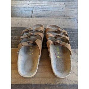 Birkenstock Shoes - Birkenstock | Size 39 Brown Triple Strap Sandals